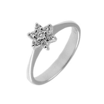 μονόπετρο δαχτυλίδι ροζέτα με διαμάντια - eshop monopetro.com.gr