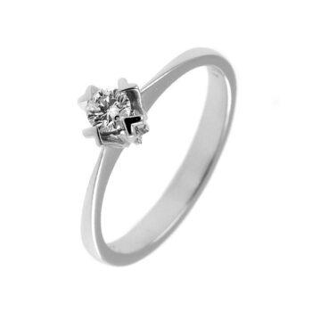 Mονόπετρα δαχτυλίδια με διαμάντι