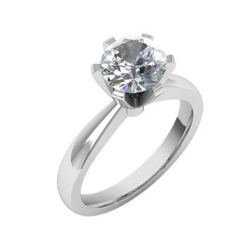Μπριγιάν μονόπετρο δαχτυλίδι για πρόταση
