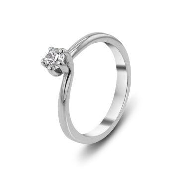δαχτυλίδι μονόπετρο με μπριγιάν - Exclusive Jewellery Ketsetzoglou