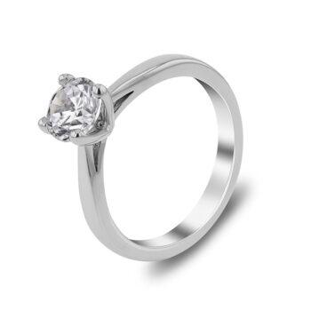 Μονόπετρο διαμάντι 18 καρατίων
