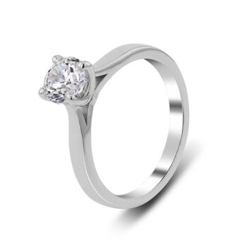Solitaire ring with 18 carats diamond