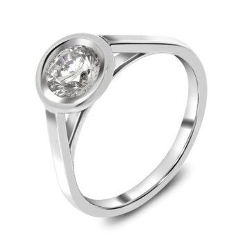 μονόπετρο με διαμάντι 18 καρατίων - Exclucive Jewellery Ketsetzoglou
