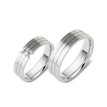 Βέρες γάμου με μπριγιάν σε λευκόχρυσο 2039583f2ee