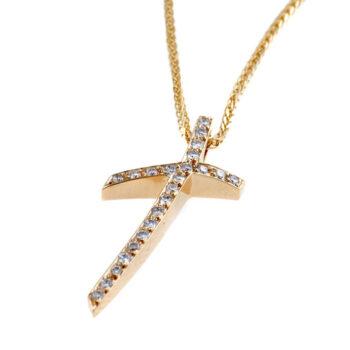 Γυναικείος σταυρός με διαμάντια