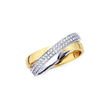 Δίχρωμο δαχτυλίδι αρραβώνα με διαμάντια Tiffany