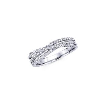Δαχτυλίδι αρραβώνα λευκόχρυσο κ18 με διαμάντια - monopetro.com.gr