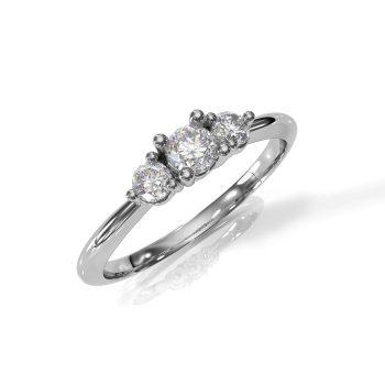 Δαχτυλίδι αρραβώνα λευκόχρυσο Κ18 Καρατίων - monopetro.com.gr