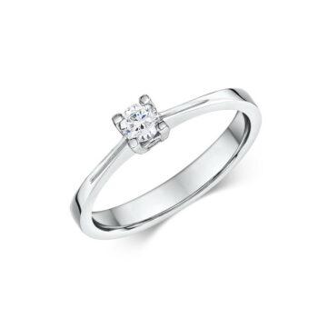 Μονόπετρο δαχτυλίδι για λόγο Κ18 λευκόχρυσο - eshop monopetro.com.gr