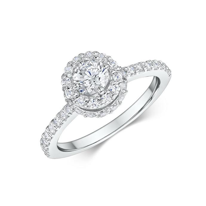 Μονόπετρο δαχτυλίδι με διαμάντια