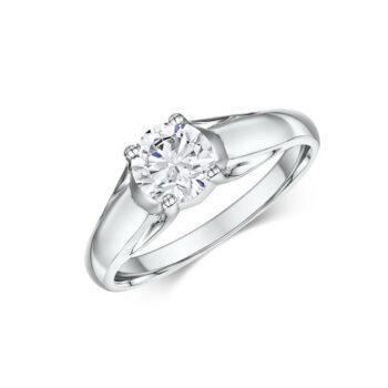 Δαχτυλίδι μονόπετρο για γάμο