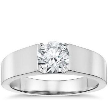 Μονόπετρο λευκόχρυσο διαμάντι