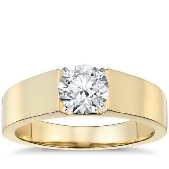 Μονόπετρο δαχτυλίδι κίτρινο χρυσό