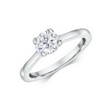 Δαχτυλίδι λευκόχρυσο 18 καράτια