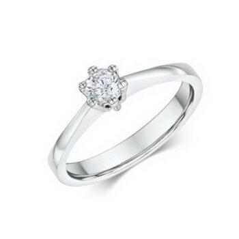 Δαχτυλίδια μονόπετρα με διαμάντια