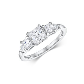 Μονόπετρο δαχτυλίδι princess cut
