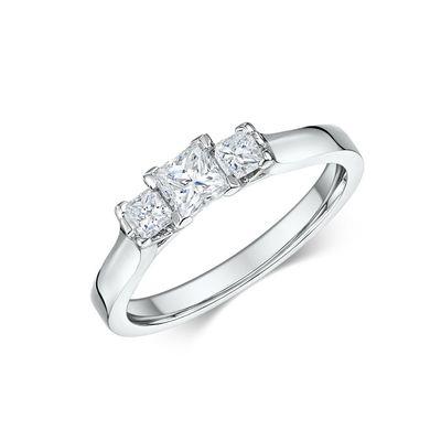 Μονόπετρο δαχτυλίδι με μπριγιάν