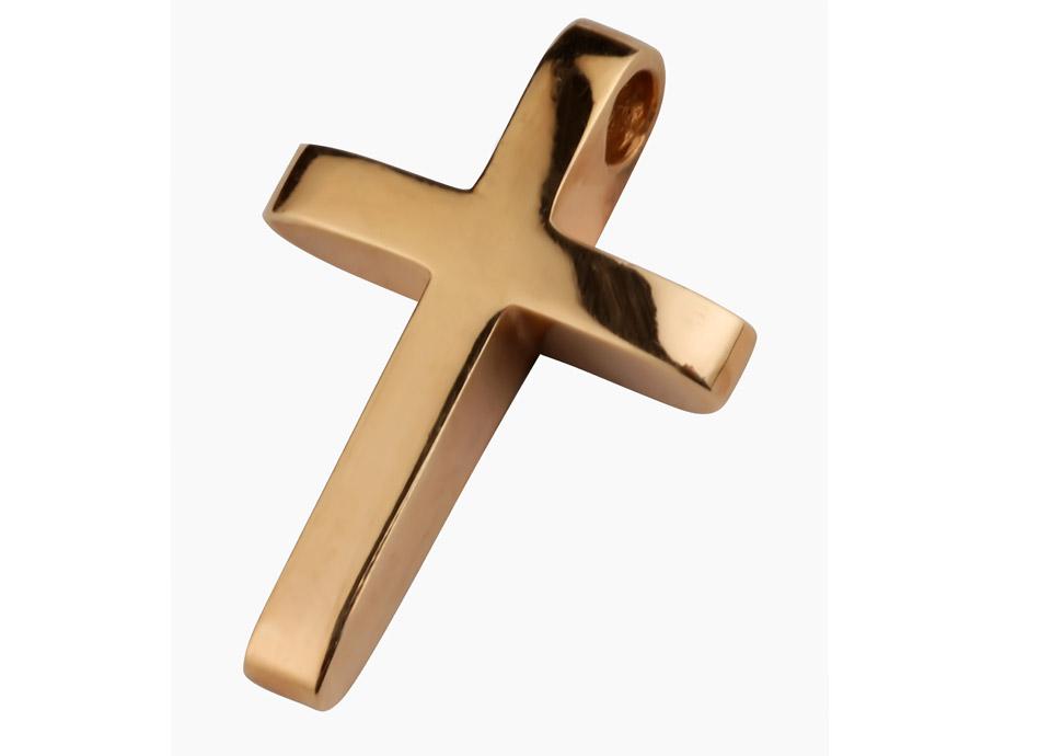 98d73436945 Βαπτιστικός σταυρός σε ροζ χρυσό