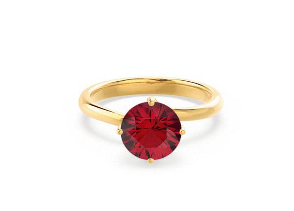 Κίτρινο χρυσό δαχτυλίδι με ρουμπίνι 5ec7ae939a1