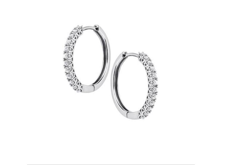 Διαμαντένια σκουλαρίκια κρίκοι