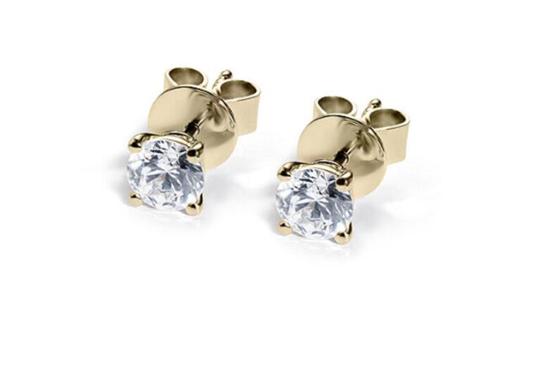 Σκουλαρίκια χρυσά με διαμάντι