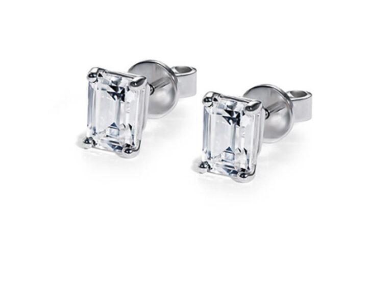 Κλασικά μονόπετρα σκουλαρίκια