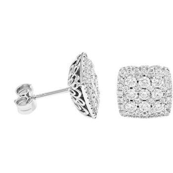 Διαμαντένια σκουλαρίκια vintage