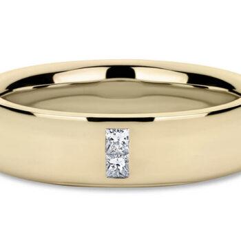 Βέρες γάμου χρυσές με διαμάντι