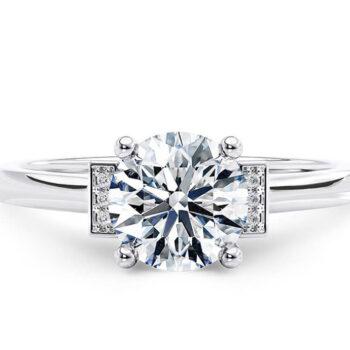 Λευκόχρυσο δαχτυλίδι με διαμάντια υψηλής ποιότητας