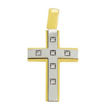 Σταυρός βάπτισης με ζιργκόν