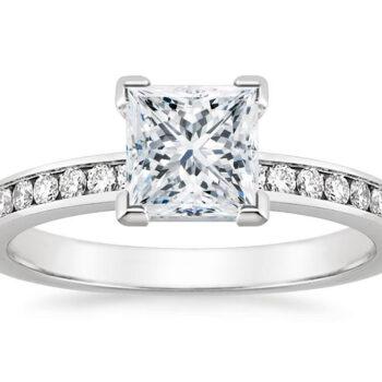 Λευκόχρυσο μονόπετρο δαχτυλίδι princess - ΜΟΝΟΠΕΤΡΑ ΔΑΧΤΥΛΙΔΙΑ MONOPETRA DAXTYLIDIA
