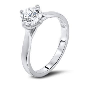 λευκόχρυσο μονόπετρο με διαμάντι , λευκοχρυσο μονοπετρο με διαμαντι