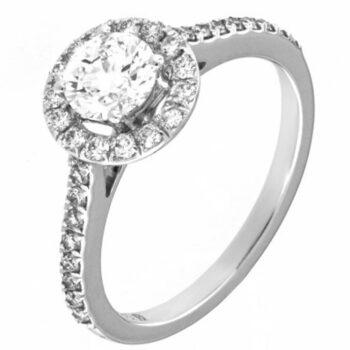 Λευκόχρυσο μονόπετρο δαχτυλίδι με διαμάντι