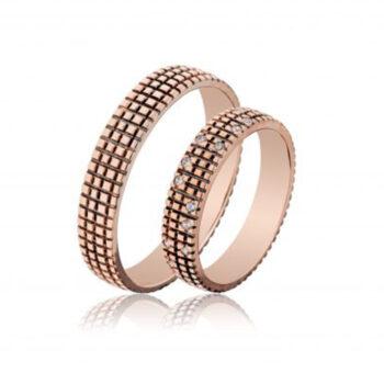 Περίτεχνες βέρες γάμου ροζ χρυσό