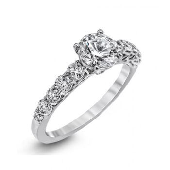 Μονόπετρο δαχτυλίδι με διαμάντι 18Κ