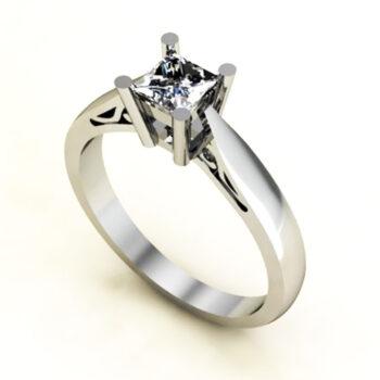 Μονόπετρο δαχτυλίδι μπριγιάν princess