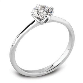 Κομψό μονόπετρο δαχτυλίδι μπριγιάν