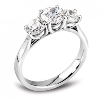 Μισόβερο δαχτυλίδι μπριγιάν τρίπετρο - Μονόπετρο Ketsetzoglou