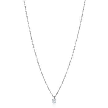 Λευκόχρυσο Κ18 κολιέ με διαμάντια