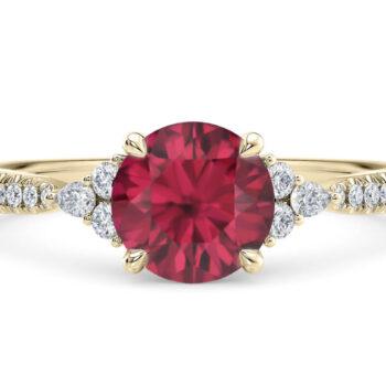 Εντυπωσιακό δαχτυλίδι με ρουμπίνι και διαμάντια - 2103615006
